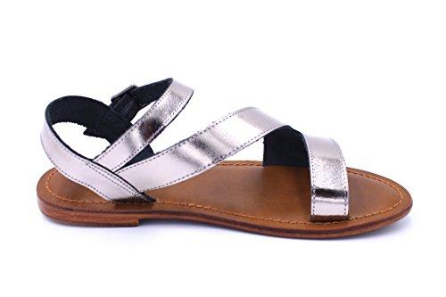 Inuovo - Sandalias de vestir de Piel para mujer Plomo