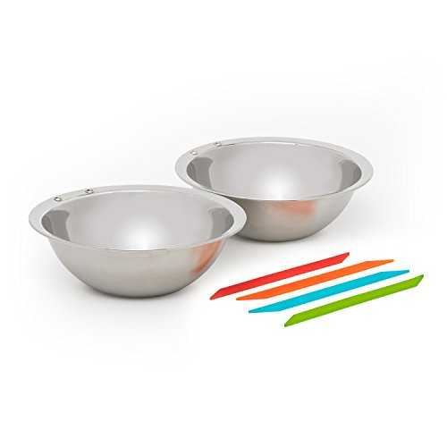 Solo Stove Flex Strap Bowls (2 Bowl Set) - Stainless Steel Camping Bowls with 4 Flex Straps. by Solo Stove