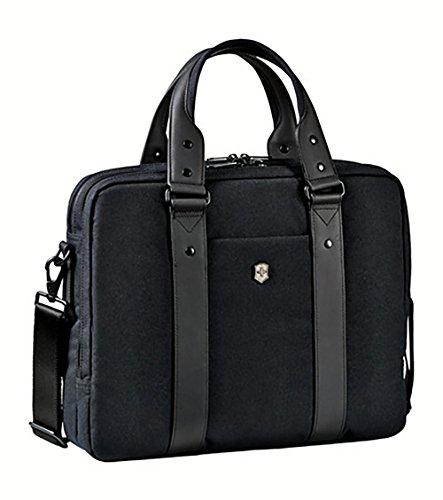 - Victorinox Architecture Urban Bodmer 14 Laptop Briefcase, Black, One Size