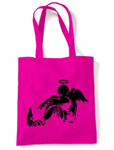 Fallen Bag Angel Banksy Shoulder Banksy Pink Angel Pink Bag Angel Fallen Shoulder Shoulder Banksy Fallen Bag aYTg6F
