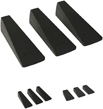 6 Stück Türstopper Türkeile Gummikeil Türfeststeller Fensterkeil Türpuffer Grau