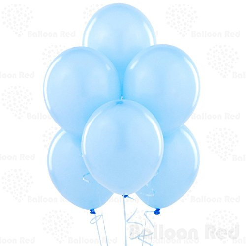 12 Inch Latex Balloons (Premium Helium Quality), Pack of 144, Baby Blue