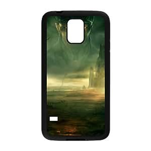 Age Of Conan Unchained funda Samsung Galaxy S5 caja funda del teléfono celular del teléfono celular negro cubierta de la caja funda EVAXLKNBC28980