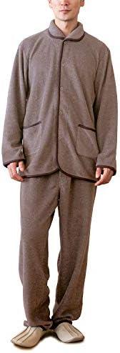 パジャマ屋 パジャマ IZUMM フリース 両面起毛 スタンダード中厚 秋 冬 メンズ 前開き 長袖