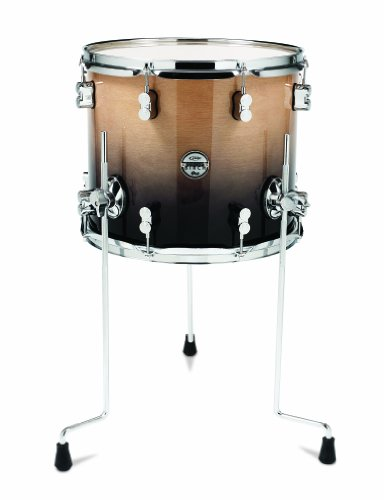 Pacific Drums PDCB1214TTNC 12 x 14 Inches Tom with Chrome Hardware - Natural to Charcoal Fade