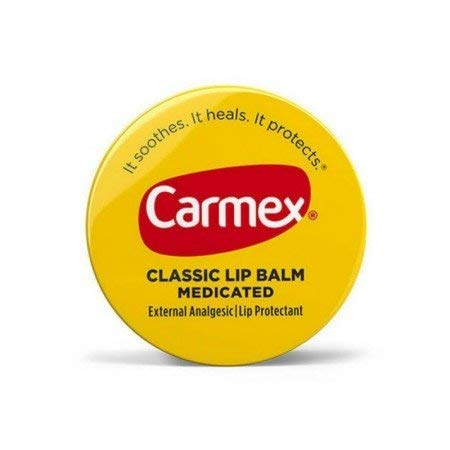 Carmex Classic Lip Balm Medicated 0.25 oz (Packs of 4)