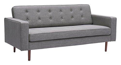 Modern Contemporary Sofa, Gray, Fabric