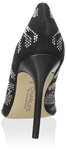 Borchie Di Charles David Womens Womens Poms Dress Black Studs
