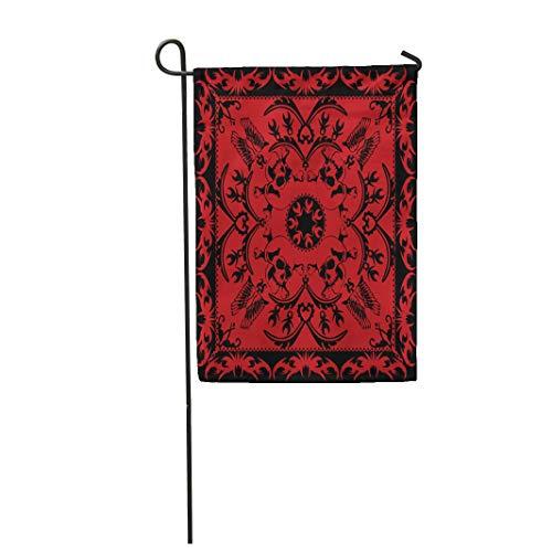 - Semtomn Garden Flag Red Pattern Skull and Crossbones Bandana Colorful Scarf Bandanna 28