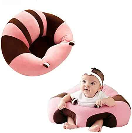GshoppingLife Baby Support Seat Sofa Plush Soft Animal Shaped Baby Learning to Sit Chair Keep Sitting Posture Comfortable for 0-12 Months Baby (Pink)