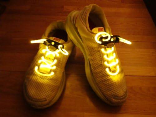 【光る靴ひも】フラッシュ ストリング(イエロー) LED ランニングシューズ 靴紐 黄色