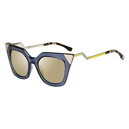 Fendi Ff0060/s 100% Authentic Women's Sunglasses Blue Gray Transparent Msumv