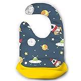 Waterproof Baby Feeding Roll-up Bibs Space Cartoon Silicone Bibs For Babies&Toddlers
