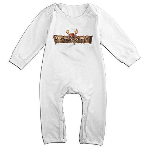 Price comparison product image Pirates Of The Caribbean Dead Men Cool Logo Baby Onesie Romper Jumpsuit Newborn Baby Clothes