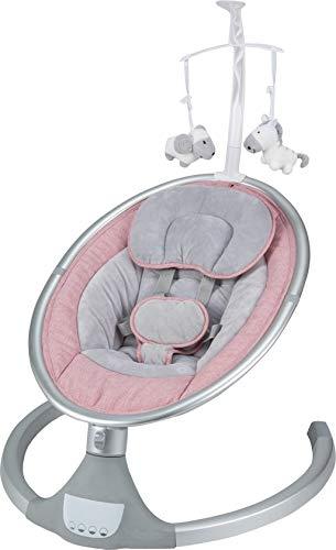 grau Born Lucky Babywippe//Wippe//Babyschaukel//Bouncer Dreamy Elektrisch 5 Schaukel Positionen 0-15 Kilo grey grau