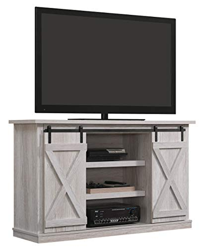 Pamari TC54-6127-PO101 Sliding Barn Door TV Stand, Sargent Oak