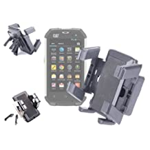 DURAGADGET Fully-Adjustable Anti-Shock Padded Air Duct Phone Mount For Caterpillar B15, Caterpillar B10, Caterpillar B25