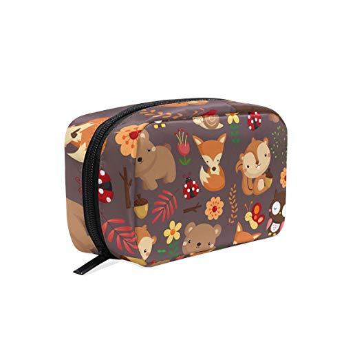 Makeup Bag Cutt Cartoon Animal Woodland Cosmetic Pouch Clutch]()