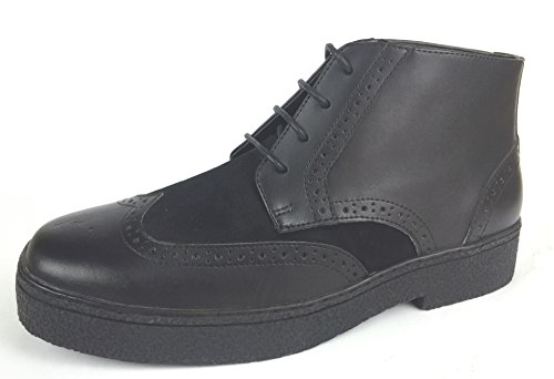 CITI British Style - Chukka High Top Mens Leather Shoes (Playboy Style # 5613-BLACK-9)