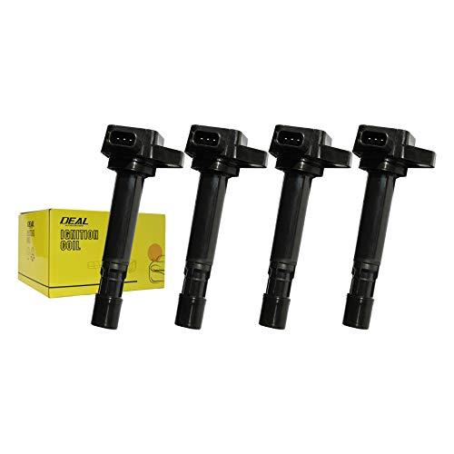 (DEAL Pack of 4 Ignition Coil on Plug Pack for Civic/EL 1.7L Pilot/MDX/Ridgeline/Vue V6 UF400 C1460)