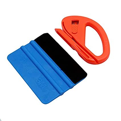 Vinyl Safety Cutter /& Felt Edge Squeegee Scraper Car Wrapping Tools Professional