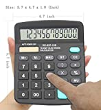Calculators, BESTWYA 12-Digit Dual Power Handheld
