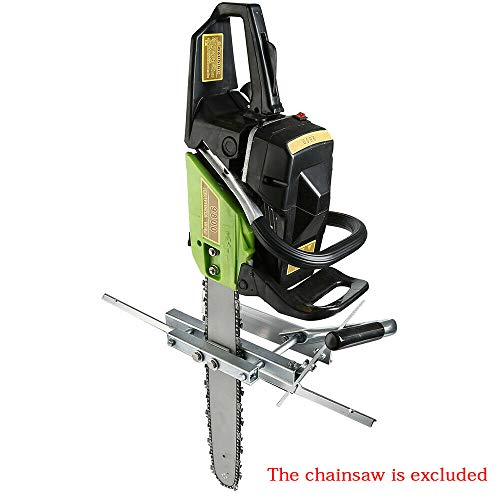"""LOYALHEARTDY19 Chain Saw Opener, USA Lumber Cutting Guide Chainsaw Attachment Saw Cut Wood Jig Mill Boards Beams Universal Portable Chain Planking Milling Ship Log Bar Size 23.5"""" Cutting from LOYALHEARTDY19"""