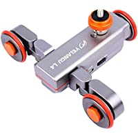 YELANGU Electric Autodolly L4 Track Slider with Remote Rechargeable Three Speed for Camera Weight Up to 3kgs and Iphone
