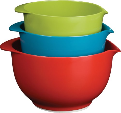 Trudeau Melamine Mixing Bowls, Set of 3