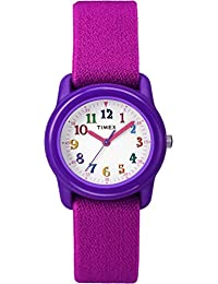 Kids TW7B99400 Purple Resin Analog Watch with Pink Elastic Fabric Strap