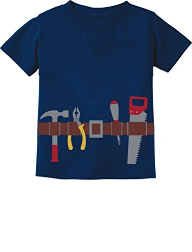 [TeeStars - Workman Tool Belt Halloween Handyman Costume Toddler Kids T-Shirt 3T Navy] (Toddler Handyman Costume)