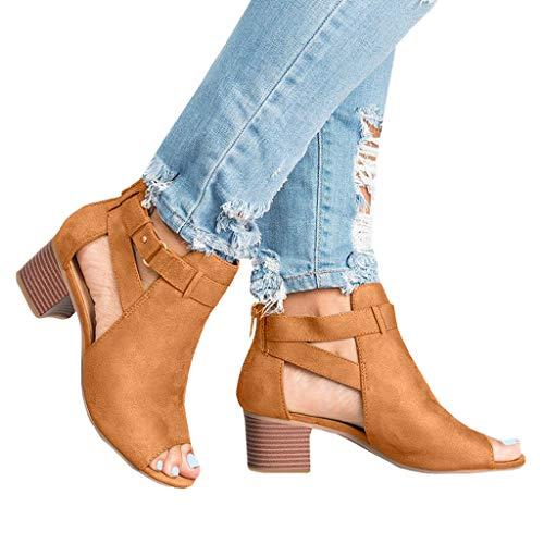Marron Surface Solide De Style Toe Chaussure Peep Talon Rome Robe Noir Quotidienne Femme Mode Escarpin 5~8cm Mobast Sandale Décontractée Floc Zip Carré Fête 8qBFnY