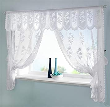 Amazon.com: WHITE VOILE NET CURTAINS DRAPES SET 100