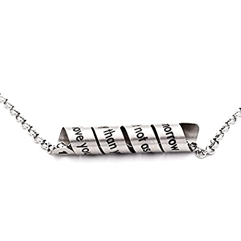 N.egret Hidden Messages Handmade Stainless Jewelry Necklace Pendant Quote Unique Gift Women Men love (Love Jewelry For Men)