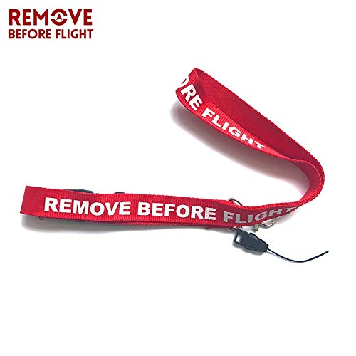 Amazon.com : Key Rings Remove Before Flight 5Pcs DIY Lanyard ...