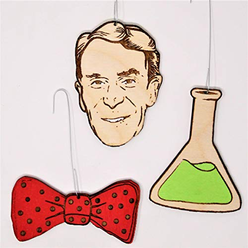 Bill Nye the Science Guy Christmas Ornament Set | Cute Holiday Gift for Science Fans]()