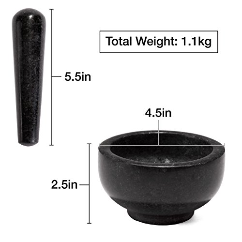 Zenware Heavyweight Mortar and Pestle - Black Granite by Zenware (Image #3)