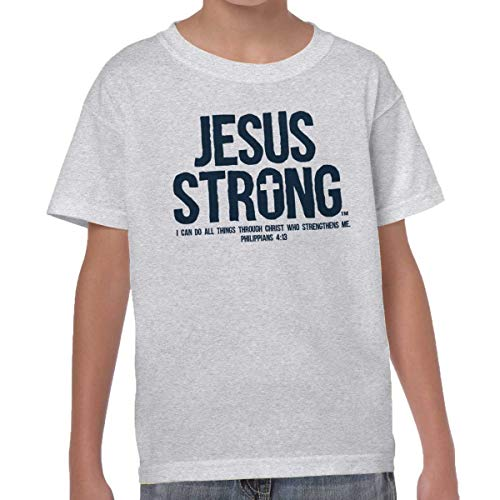 Jesus Christ Strong Philippian Christian Shirt Religious Gift Youth (Jesus Youth Christian T-shirt)