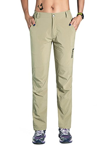 Unitop Women's Quick Dry Trekking Hiking Pants Khaki M 32
