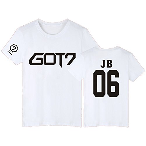 GOT7 T-Shirt Bambam Mark Jackson Youngjae Tee Shirt XXL White JB