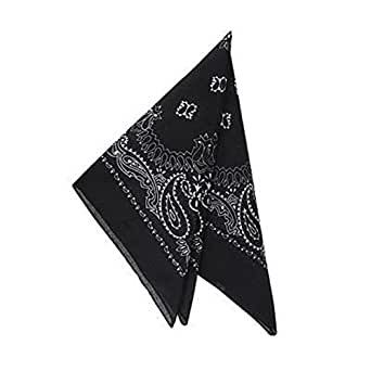 "Cowboy Costume 19"" Bandana Head Scarf-Black"