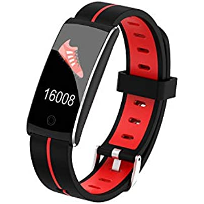 MOBYOU Fashion Bluetooth Smart Wristband Touch Screen Message Reminder IP68 Waterproof Business Silicone Heart Rate Monitor Sleep Monitor Estimated Price £27.73 -