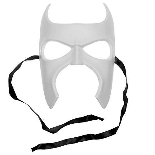 ILOVEMASKS Batman Halloween Venetian Masquerade Full Face Mask - White