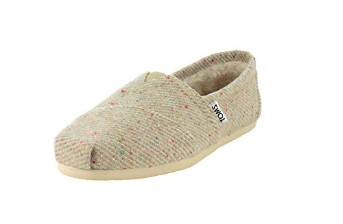 TOMS Womens Classic Cream With Rainbow Fleck Wool Cloud/Cream Slip-On - 6 - Rainbow Classic Rubber