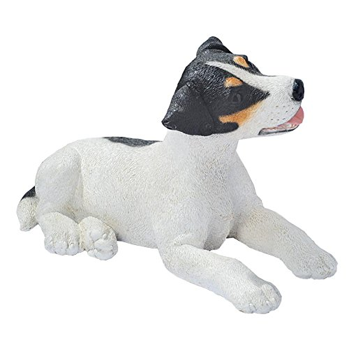 Design Toscano Black and White Jack Russell Puppy Dog for sale  Delivered anywhere in USA