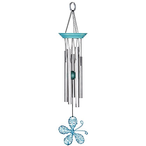 Woodstock Isabelles Dancing Butterfly Wind Chime  Aqua