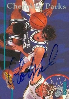 Cherokee Parks autographed basketball card (Duke Blue Devils) 1995 Classic #109 Snap Shots NCAA ()