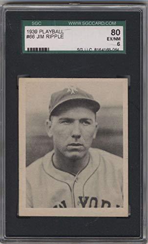 Baseball MLB 1939 Play Ball #66 Jimmy Ripple SGC 80 6 RC Rookie NY Giants