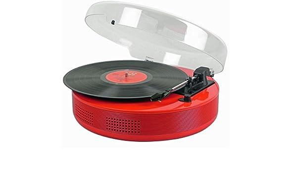 Steepletone DiscGo - Reproductor de discos con tocadiscos retro ...
