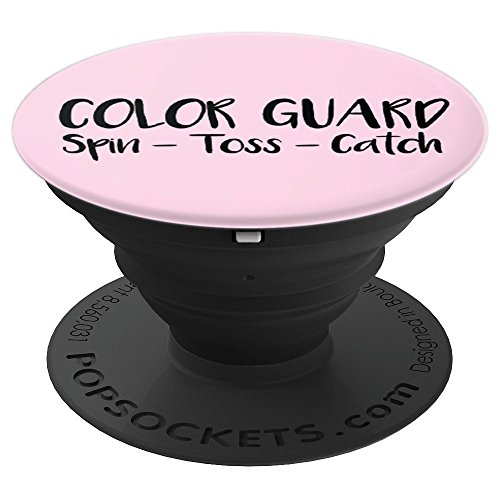 Color Guard, Spin Toss Catch, Rifle Sabre Flags, Guard Gift - PopSockets Grip and Stand for Phones and Tablets